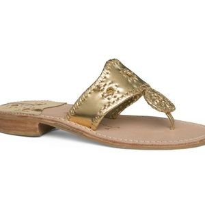 Jack Rogers Gold Jacks Flat Sandal